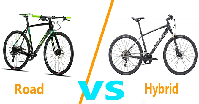 difference between hybrid and road bike